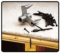 Fix squeaky floors with Squeak No More, a squeaky floor repair kit.